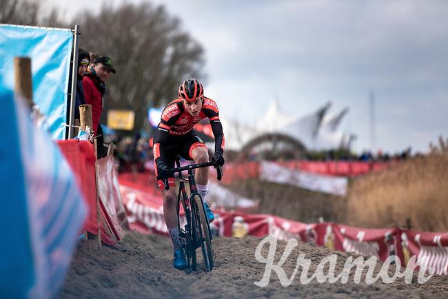 race leader and later U23 men's race winner Toon Vandebosch (BEL/Pauwels Sauzen - Bingoal)<br /> <br /> Men's U23 race<br /> Belgian National CX Championships<br /> Antwerp 2020