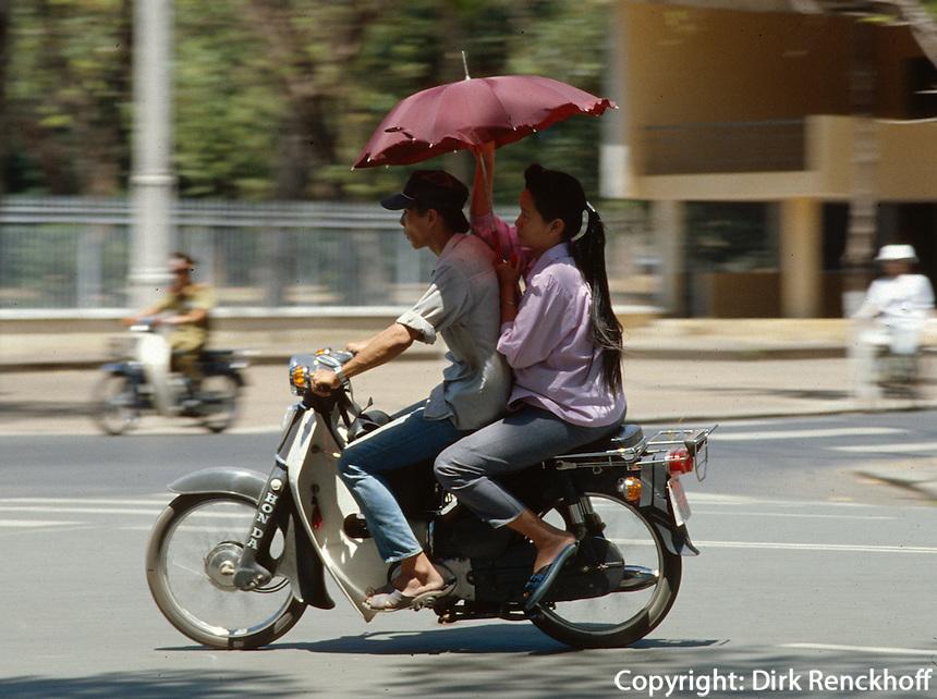 Straßenverkehr in Saigon, Vietnam