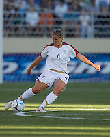 Cat Whitehill. USA defeated Japan 4-1 at Spartan Stadium in San Jose, CA on July 28, 2007.