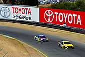 #19: Daniel Suarez, Joe Gibbs Racing, Toyota Camry STANLEY and #18: Kyle Busch, Joe Gibbs Racing, Toyota Camry M&M's Caramel