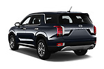 Car pictures of rear three quarter view of a 2020 Hyundai Palisade SEL 5 Door SUV angular rear
