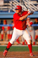 August 6, 2009:  First Baseman Matthew Adams of the Batavia Muckdogs during a game at Dwyer Stadium in Batavia, NY.  The Muckdogs are the Short-Season Class-A affiliate of the St. Louis Cardinals.  Photo By Mike Janes/Four Seam Images