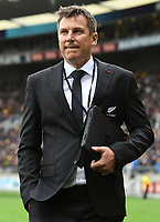 11th October 2020; Sky Stadium, Wellington, New Zealand;   All Blacks assistant coach Brad Mooar during the Bledisloe Cup rugby union test match between the New Zealand All Blacks and Australia Wallabies.