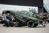 Sep 1, 2017; Clermont, IN, USA; NHRA funny car driver Alexis DeJoria during qualifying for the US Nationals at Lucas Oil Raceway. Mandatory Credit: Mark J. Rebilas-USA TODAY Sports