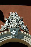 Theater, Detail der Fassade, in Klaipeda, Litauen, Europa