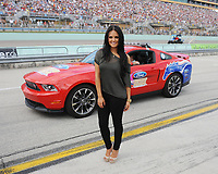 HOMESTEAD, FL - NOVEMBER 20:   Pia Toscano is sighted at the NASCAR Sprint Cup Series Ford 400 and the 2011 Series Championship at Homestead-Miami Speedway on November 20, 2011 in Homestead, Florida<br /> <br /> <br /> People:  Pia Toscano