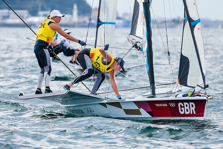 Charlotte Dobson and her Dun Laoghaire Harbour crew Saskia Tidey in the hunt for a medal this Saturday