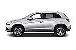 Car Driver side profile view of a 2017 Mitsubishi Outlander-Sport ES-AWC 5 Door SUV Side View