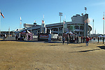 December 30, 2016: Fans start to gather around Liberty Bowl Memorial Stadium before kickoff of the AutoZone Liberty Bowl between Georgia and TCU in Memphis, Tennessee. ©Justin Manning/Eclipse Sportswire/Cal Sport Media
