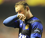Wayne Rooney, Manchester United's during a UEFA Europa League round of 16, second leg soccer match at the San Mames Stadium, in Bilbao, Thursday, March 15, 2012. (ALTERPHOTOS/Israel Lopez Murillo)
