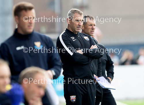 Montrose v St Johnstone…21.07.18…  Links Park    League Cup<br />Stewart Petrie looks on from the touchline<br />Picture by Graeme Hart. <br />Copyright Perthshire Picture Agency<br />Tel: 01738 623350  Mobile: 07990 594431