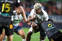 27th March 2021; Hamilton, New Zealand;  Hoskins Sotutu.<br /> Chiefs versus Blues, Super Rugby  AOTEAROA, FMG Waikato Stadium, Hamilton, New Zealand.