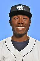 Asheville Tourists outfielder Mylz Jones (7) poses for a photo at Story Point Media on April 5, 2016 in Asheville, North Carolina. (Tony Farlow/Four Seam Images)