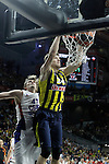 Fenerbahce Ulker Istambul's Jan Vesely (r) and CSKA Moscow's Andrei Kirilenko during Euroleague Third Place Game. May 15,2015. (ALTERPHOTOS/Acero)