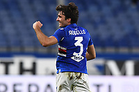 Tommaso Augello of UC Sampdoria celebrates after scoring the goal of 2-0 during the Serie A football match between UC Sampdoria and SS Lazio at stadio Marassi in Genova (Italy), October 17th, 2020. <br /> Photo Image Sport / Insidefoto