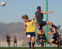 Andrew Craven and Tyler Polak training. 2009 CONCACAF Under-17 Championship From April 21-May 2 in Tijuana, Mexico