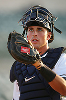 April 26 2009: Jason Castro of the Lancaster JetHawks before game against the San Jose Giants at Clear Channel Stadium in Lancaster,CA.  Photo by Larry Goren/Four Seam Images