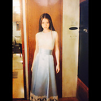 "Michelle Trachtenberg has posted a photo on Instagram with the following remarks:<br /> #Tbt To the beautiful custom made dress I wore for the #Buffy musical episode, this picture was taken right before filming my dance scene with the demon, ""Sweet"". #OnceMoreWithFeeling #BTVS #DawnSummers #MySisterTheSlayer <br /> Instagram, 2014-11-07 10:54:25. <br /> Photo supplied by insight media<br /> <br /> This is a private photo posted on social networks and supplied by this Agency. This Agency does not claim any ownership including but not limited to copyright or license in the attached material. Fees charged by this Agency are for Agency's services only, and do not, nor are they intended to, convey to the user any ownership of copyright or license in the material. By publishing this material you expressly agree to indemnify and to hold this Agency and its directors, shareholders and employees harmless from any loss, claims, damages, demands, expenses (including legal fees), or any causes of action or allegation against this Agency arising out of or connected in any way with publication of the material."