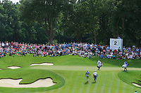 Wentworths 2nd green during the BMW PGA Golf Championship at Wentworth Golf Course, Wentworth Drive, Virginia Water, England on 28 May 2017. Photo by Steve McCarthy/PRiME Media Images.