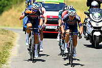 10th July 2021; Carcassonne, France;  SBARAGLI Kristian (ITA) of ALPECIN-FENIX and RICKAERT Jonas (BEL) of ALPECIN-FENIX during stage 14 of the 108th edition of the 2021 Tour de France cycling race, a stage of 183,7 kms between Carcassonne and Quillan.