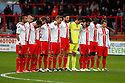 Stevenage players honour Remembrance Day<br />  - Stevenage v Portsmouth - FA Cup 1st Round  - Lamex Stadium, Stevenage - 9th November, 2013<br />  © Kevin Coleman 2013