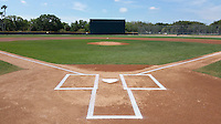 General view of the field before a Toronto Blue Jays minor league spring training game against the Pittsburgh Pirates on March 21, 2015 at Pirate City in Bradenton, Florida.  (Mike Janes/Four Seam Images)