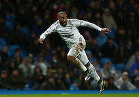 Ashley Williams of Swansea City during the Barclays Premier League match between Manchester City and Swansea City played at the Etihad Stadium, Manchester on December 12th 2015
