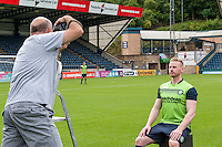 Setting up during the Wycombe Wanderers 2016/17 Team & Individual Squad Photos at Adams Park, High Wycombe, England on 1 August 2016. Photo by Jeremy Nako.