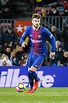 Gerard Pique of FC Barcelona runs with the ball during the La Liga 2017-18 match between FC Barcelona and Deportivo La Coruna at Camp Nou Stadium on 17 December 2017 in Barcelona, Spain. Photo by Vicens Gimenez / Power Sport Images