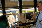Slovakia: the control room at a dam on the Danube River.