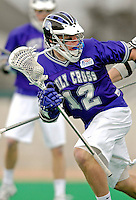10 April 2007: Holy Cross Crusaders' Matt Heske, a Freshman from Manhasset, NY, in action against the University of Vermont Catamounts at Moulton Winder Field, in Burlington, Vermont. The Crusaders rallied to defeat the Catamounts 5-4...Mandatory Photo Credit: Ed Wolfstein Photo