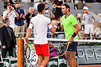 Novak DJOKOVIC of Serbia and Rafael NADAL of Spain during the ninth round of Roland Garros tennis open at Roland Garros in Paris, France on Friday, 11 June, 2021. Photo by Baptiste Fernandez / Icon Sport