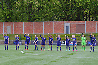 line-up team Anderlecht ( Tine De Caigny (6) , Sarah Wijnants (11) , Britt Vanhamel (4) , Tessa Wullaert (27) , Mariam Abdulai Toloba (19) , Kassandra Missipo (12) , Laura Deloose (14) , Stefania Vatafu (10) , Jarne Teulings (16) , goalkeeper Justien Odeurs (13) , Laura De Neve (8) ) pictured during a female soccer game between RSC Anderlecht Dames and AA Gent Ladies on the fifth matchday of play off 1 of the 2020 - 2021 season of Belgian Womens Super League , saturday 8 th of May 2021  in Brussels , Belgium . PHOTO SPORTPIX.BE | SPP | STIJN AUDOOREN