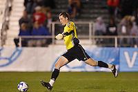 University of Massachusetts Minutemen goalkeeper Zack Simmons (1) during an NCAA College Cup semi-final match at SAS Stadium in Cary, NC on December 14, 2007. Ohio State defeated Massachusetts 1-0.