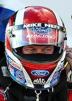 Jan 24, 2009; Chandler, AZ, USA; NHRA funny car driver Mike Neff during testing at the National Time Trials at Firebird International Raceway. Mandatory Credit: Mark J. Rebilas-