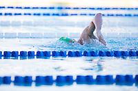 Santa Clara, California - Friday June 3, 2016: Mitchell Larkin heads into his final 100 during the Men's 400 LC Meter IM A final.