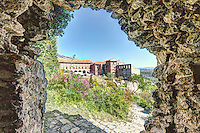 The Palace in the Byzantine castle city of Mystras, Greece