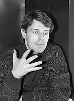 Montreal (qc) CANADA - file Photo - 1990 - <br /> <br /> <br />  - French actor Lambert Wilson , exclusive interview photo