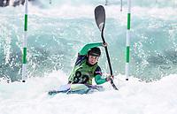 Anna Maria Ifarranguerri (USA). Oceania Canoe Slalom Championships, Whero Whitewater Park, Auckland, New Zealand, 1st February 2020. Photo: Simon Watts/www.bwmedia.co.nz