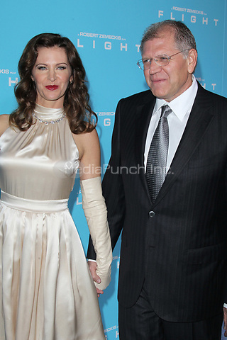 HOLLYWOOD, CA - OCTOBER 23: Leslie Zemeckis and Robert Zemeckis at the Los Angeles premiere of 'Flight' at ArcLight Cinemas on October 23, 2012 in Hollywood, California. ©mpi21/MediaPunch Inc.