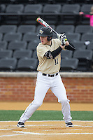 Jonathan Pryor (11) of the Wake Forest Demon Deacons at bat against the Harvard Crimson at David F. Couch Ballpark on March 5, 2016 in Winston-Salem, North Carolina.  The Crimson defeated the Demon Deacons 6-3.  (Brian Westerholt/Four Seam Images)