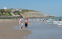 FOLKESTONE, KENT, England - 30.05.2020<br /> .<br /> People enjoy the summer weekend sun by relaxing in the sea at Folkestone Harbour, as the government lockdown is due to be relaxed further on Monday including allowing groups of 6 to meet up as the COVID-19 pandemic continues in High Wycombe, Bucks on 30 May 2020. Photo by Alan Stanford.