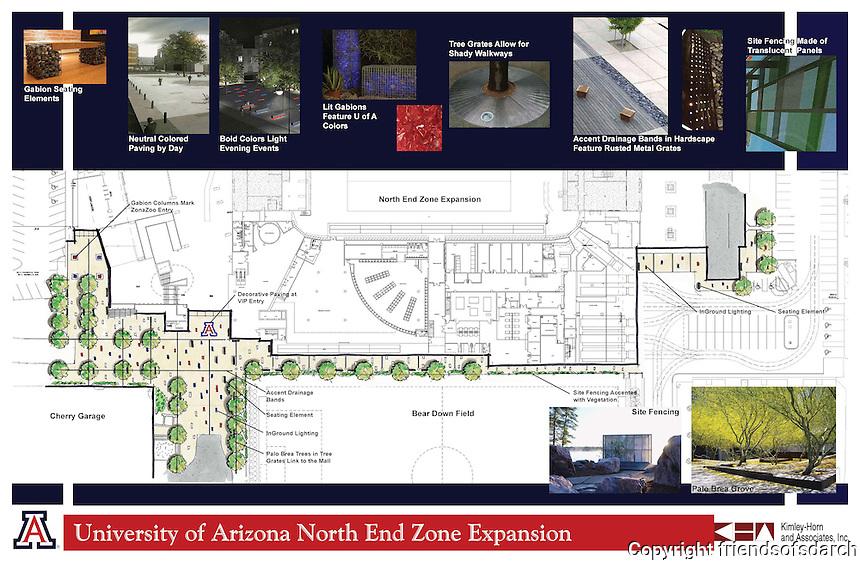 University of Arizona North End Expansion--Site Plan. Joy LYndes, Landscape Architect.