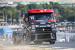 Portuguese driver Jose Ferando Araujo Rodrigues belonging Portuguese team Jose Ferando Araujo Rodrigues during the fist race R1 of the XXX Spain GP Camion of the FIA European Truck Racing Championship 2016 in Madrid. October 01, 2016. (ALTERPHOTOS/Rodrigo Jimenez)
