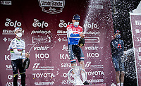 Mathieu Van der Poel (NED/Alpecin-Fenix) wins the 15th Strade Bianche 2021<br /> World Champion Julian Alaphilippe (FRA/Deceuninck - QuickStep) finishes 2nd and Egan Bernal (COL/Ineos Grenadiers) 3rd<br /> <br /> ME (1.UWT)<br /> 1 day race from Siena to Siena (ITA/184km)<br /> <br /> ©kramon