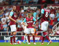 Dejected Manuel Lanzini of West Ham United after conceding 2nd goal   during the Barclays Premier League match between West Ham United and Swansea City  played at Boleyn Ground , London on 7th May 2016