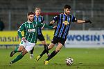 13.01.2021, xtgx, Fussball 3. Liga, VfB Luebeck - SV Waldhof Mannheim emspor, v.l. Elsamed Ramaj (Luebeck, 6), Hamza Saghiri (Mannheim, 35) Zweikampf, Duell, Kampf, tackle <br /> <br /> (DFL/DFB REGULATIONS PROHIBIT ANY USE OF PHOTOGRAPHS as IMAGE SEQUENCES and/or QUASI-VIDEO)<br /> <br /> Foto © PIX-Sportfotos *** Foto ist honorarpflichtig! *** Auf Anfrage in hoeherer Qualitaet/Aufloesung. Belegexemplar erbeten. Veroeffentlichung ausschliesslich fuer journalistisch-publizistische Zwecke. For editorial use only.