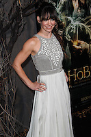 """HOLLYWOOD, CA - DECEMBER 02: Actress Evangeline Lilly arrives at the Los Angeles Premiere Of Warner Bros' """"The Hobbit: The Desolation Of Smaug"""" held at Dolby Theatre on December 2, 2013 in Hollywood, California. (Photo by Xavier Collin/Celebrity Monitor)"""