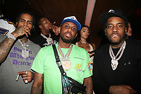 NEW YORK, NY- SEPTEMBER 12: Dave East, Fabolous, Fivio Foreign pictured at Swizz Beatz Surprise Birthday Party at Little Sister in New York City on September 12, 2021. Credit: Walik Goshorn/MediaPunch
