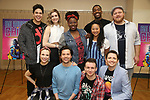 """George Salazar, Lauren Marcus, Katlyn Carlson, Jason Tam, Tiffany Mann, Gerard Canonico, Stephanie Hsu, Britton Smith, Will Roland and Jason SweetTooth Williams during the """"Be More Chill"""" Press Preview Presentation at Pearl Studios on January 23, 2019 in New York City."""